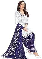 RK Fashion Womens Cotton Un-Stitched Salwar Suit Dupatta Material-(RGR612-Free Size-White)