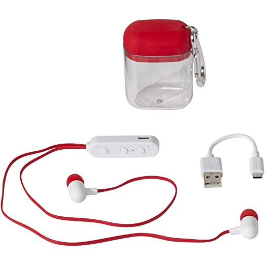 dcca62b88b9 Bullet Budget Bluetooth Earbuds In Carabiner Case (0.4 x 0.7 inches) (Red)