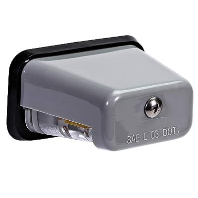 LED Trailer License Plate Light [Stud Mount] [DOT FMVSS 108] [SAE L] [Gray-Finish] [Waterproof] [12V DC] License Tag Lights for UTV ATV Trailer Truck RV Boat: Automotive