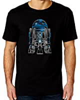 R2D2 Glow Effect Star Wars Mens Black T-shirt