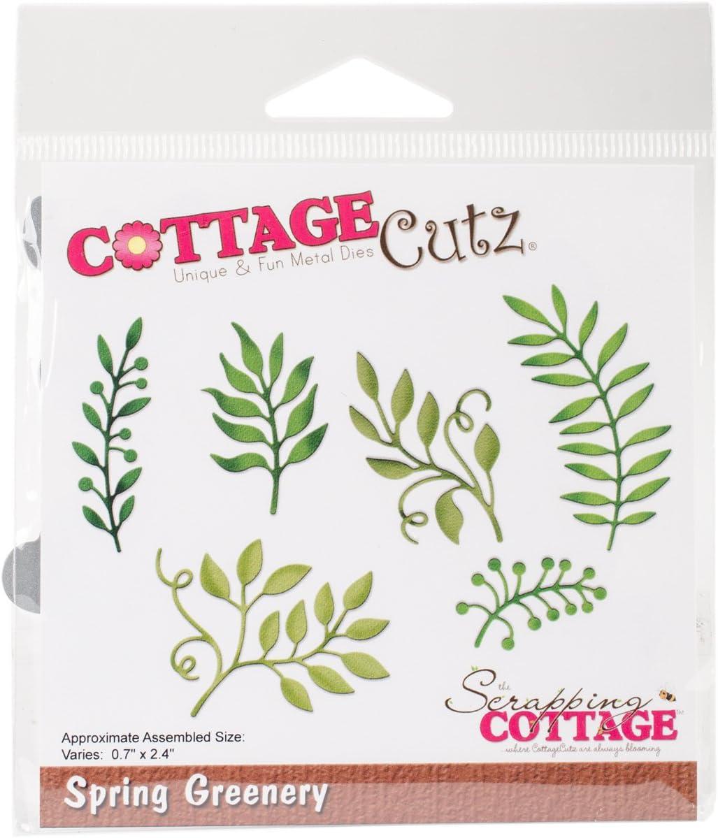 LEAVES SPRING GREENERY Die Craft Steel Dies Cutting Dies Cottage Cutz CC-244 New