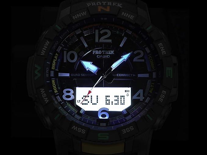 Casio Pro Trek Reloj deportivo de cuarzo con correa de resina, con ...