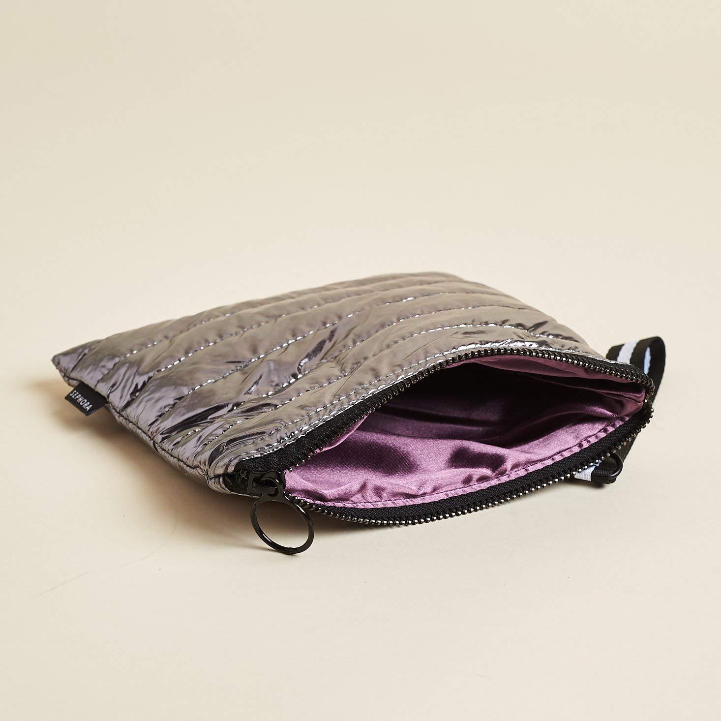 Amazon.com: Sephora Silver Puffer Cosmetic Bag, Luxe Vol.2 ...