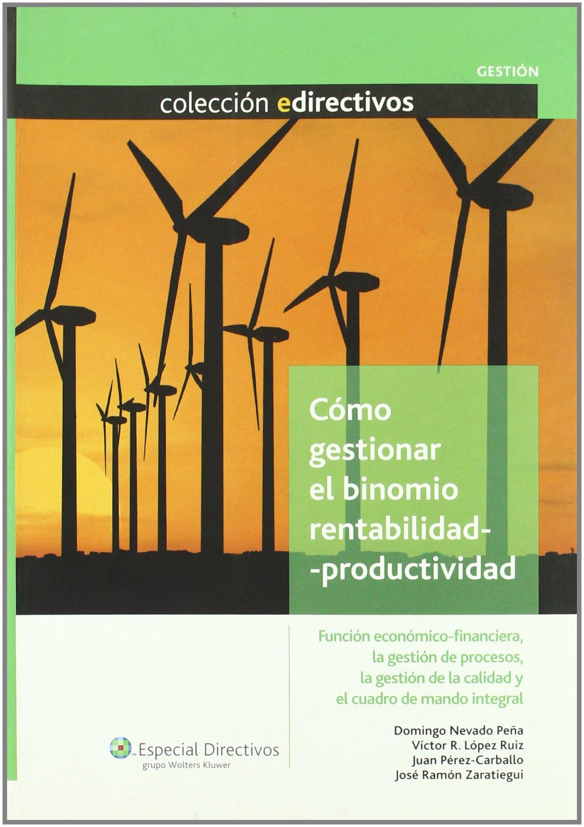 Como Gestionar Binomio Rentabilidad-productividad: DOMINGO NEVADO PEÑA: 9788493602802: Amazon.com: Books