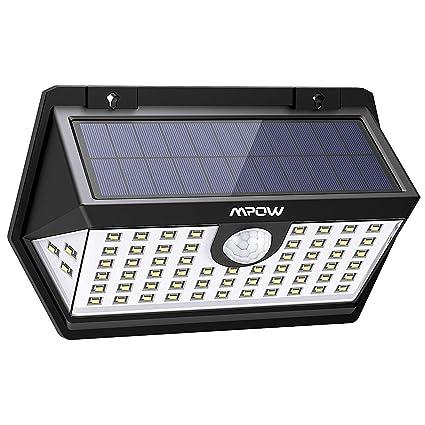 Mpow 63 LED Spot Solaire Extérieur, Lampe Solaire Etanche IP65 Haute  Efficience Détecteur de Mouvement 4ed4543d12ae
