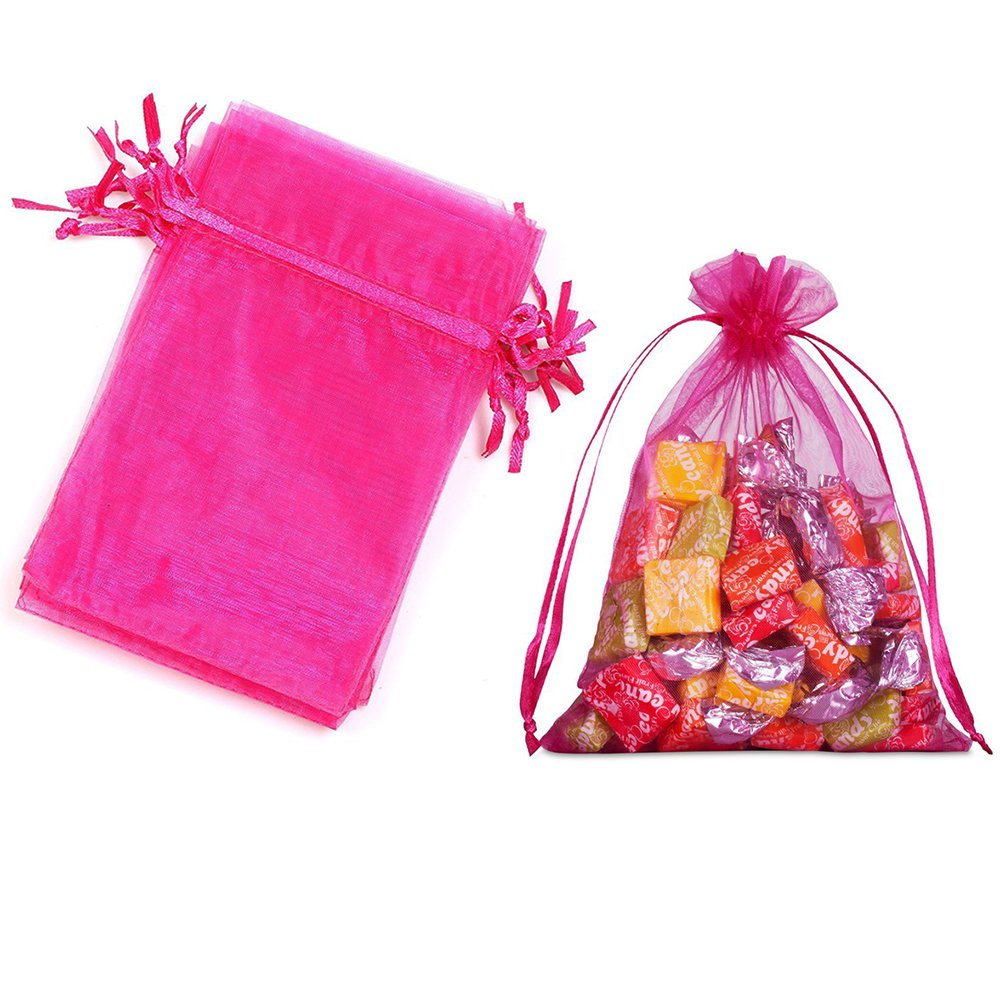 Amazon.com: 100pcs Organza Gift Bags - 4.33 x 6.29 inch Sheer ...