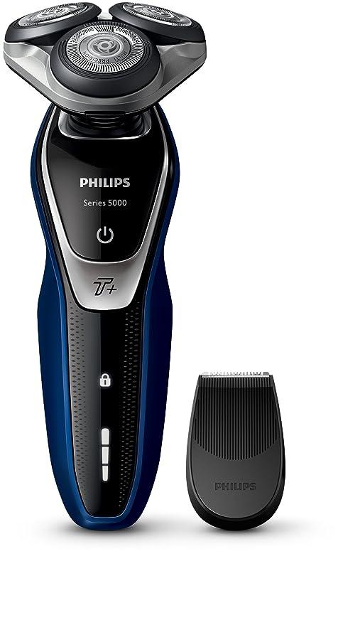 Philips SHAVER Series 5000 S5572/06 Máquina de afeitar de rotación Recortadora Negro, Azul