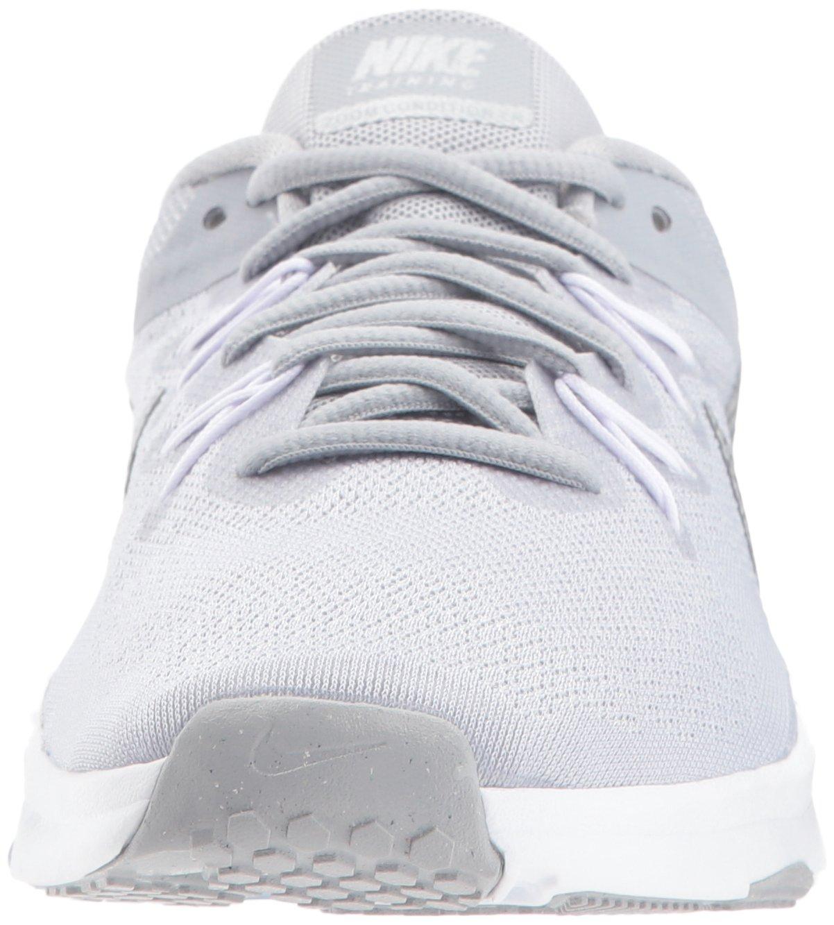 NIKE Women's Zoom Condition 2 Cross Trainer B0719QJJTX 11 B(M) US|Wolf Grey/Metallic Silver - White