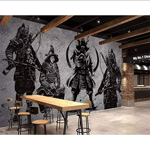 YSSYSS Mural 3D del restaurante japonés pintado a mano de la pared ...