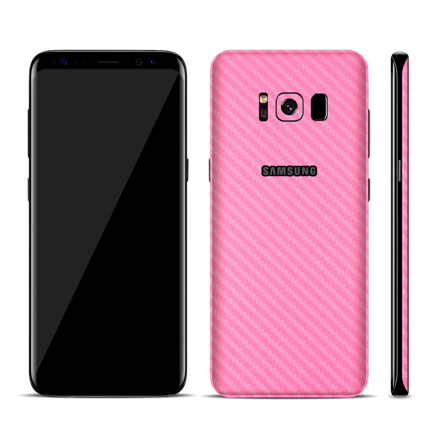 SmartSkins Textured Skin Sticker for SAMSUNG GALAXY S8 /& S8 Plus S8, Black Carbon