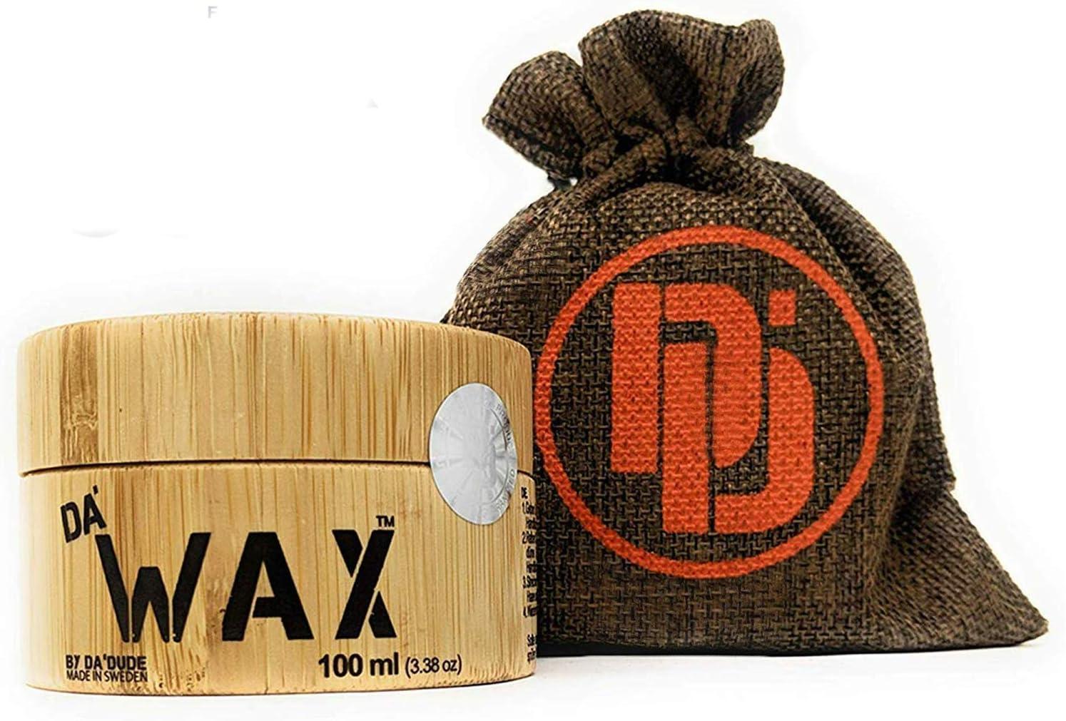 Da'Dude Da' Wax Cera-Capelli-Uomo-Opaca-Extra-forte Cera-per-Capelli-Uomo-Professionale in una scatola di legno di alta qualit� e confezione regalo - 100 ml