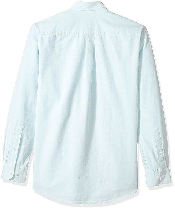 8d9e5f47e5 Amazon.com  Amazon Essentials Men s Regular-Fit Long-Sleeve Solid Oxford  Shirt  Clothing
