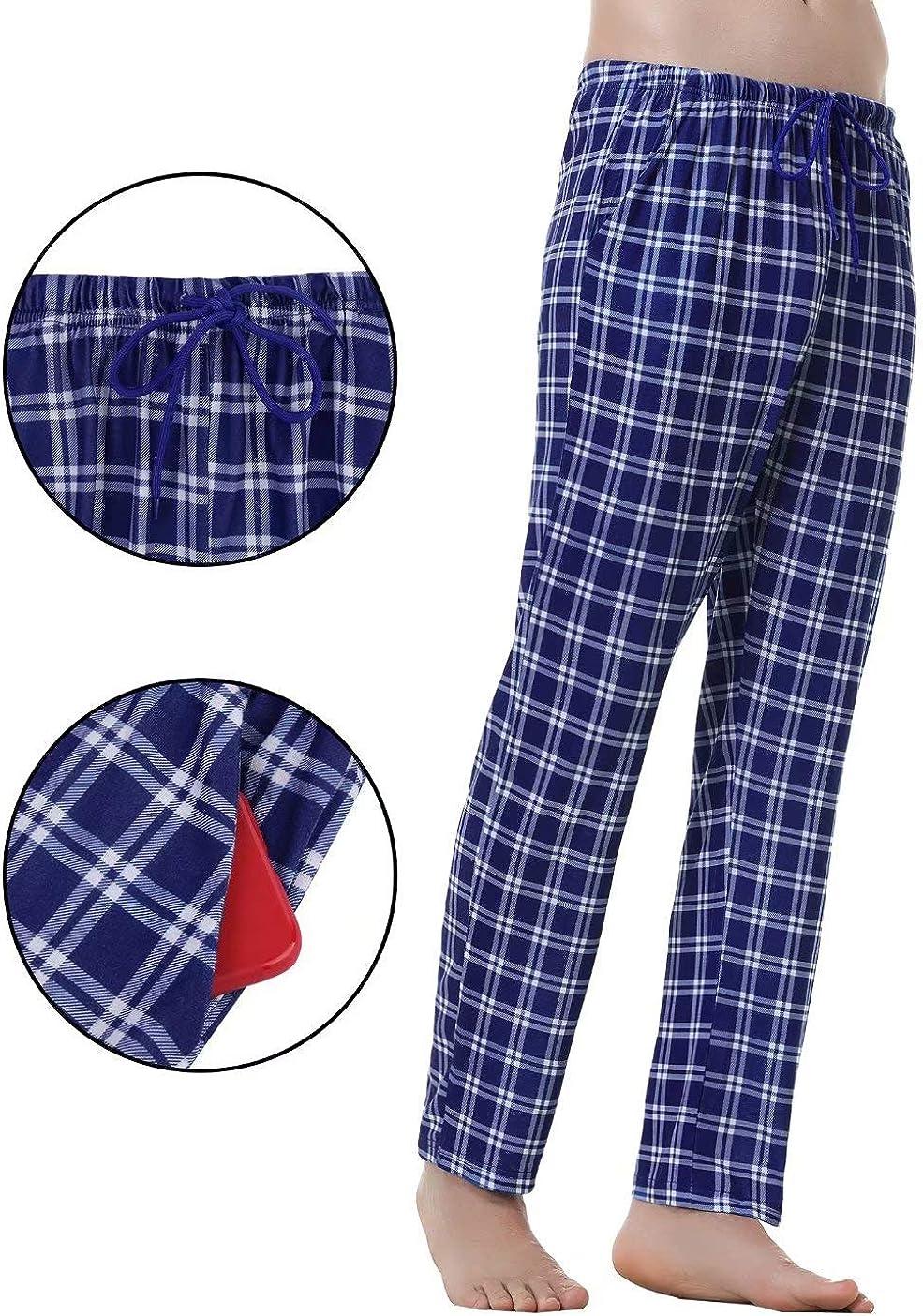 Uomo Pantaloni per Casa Sportivi Casual Pigiama Pantaloni Reticolo Pantaloni da Pigiama Uomo Pantaloni Pigiama Uomo in Cotone