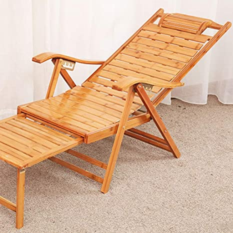 GCCI Silla plegable Silla plegable Silla de bambú de Lazy ...