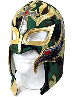 Rey Mysterio Adult Lucha Libre Wrestling Mask (Pro-fit) Costume Wear - Camo