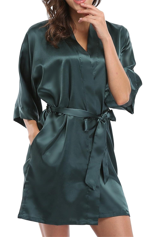 giova-pure-color-satin-short-silky-bathrobe-sleepwear- 8240f9446