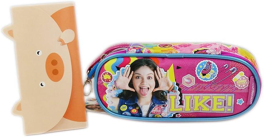Disney Soy Luna Smile Bolsos Escolar Estuche para Lapices Plumas: Amazon.es: Equipaje
