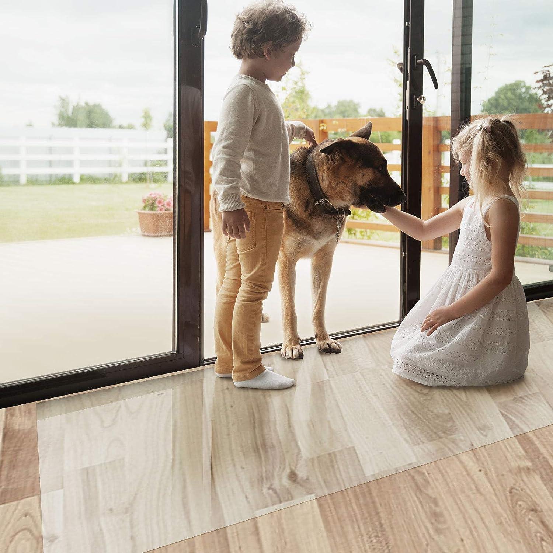Bürostuhlunterlage Bodenschutzmatte   Bodenmatte Stuhlunterlage   Transparent   Stärke  1,5 mm   Viele Größen zur Auswahl - Budget-Bodenschutzmatte für Hartböden (Länge  500 cm, Breite  60 cm)