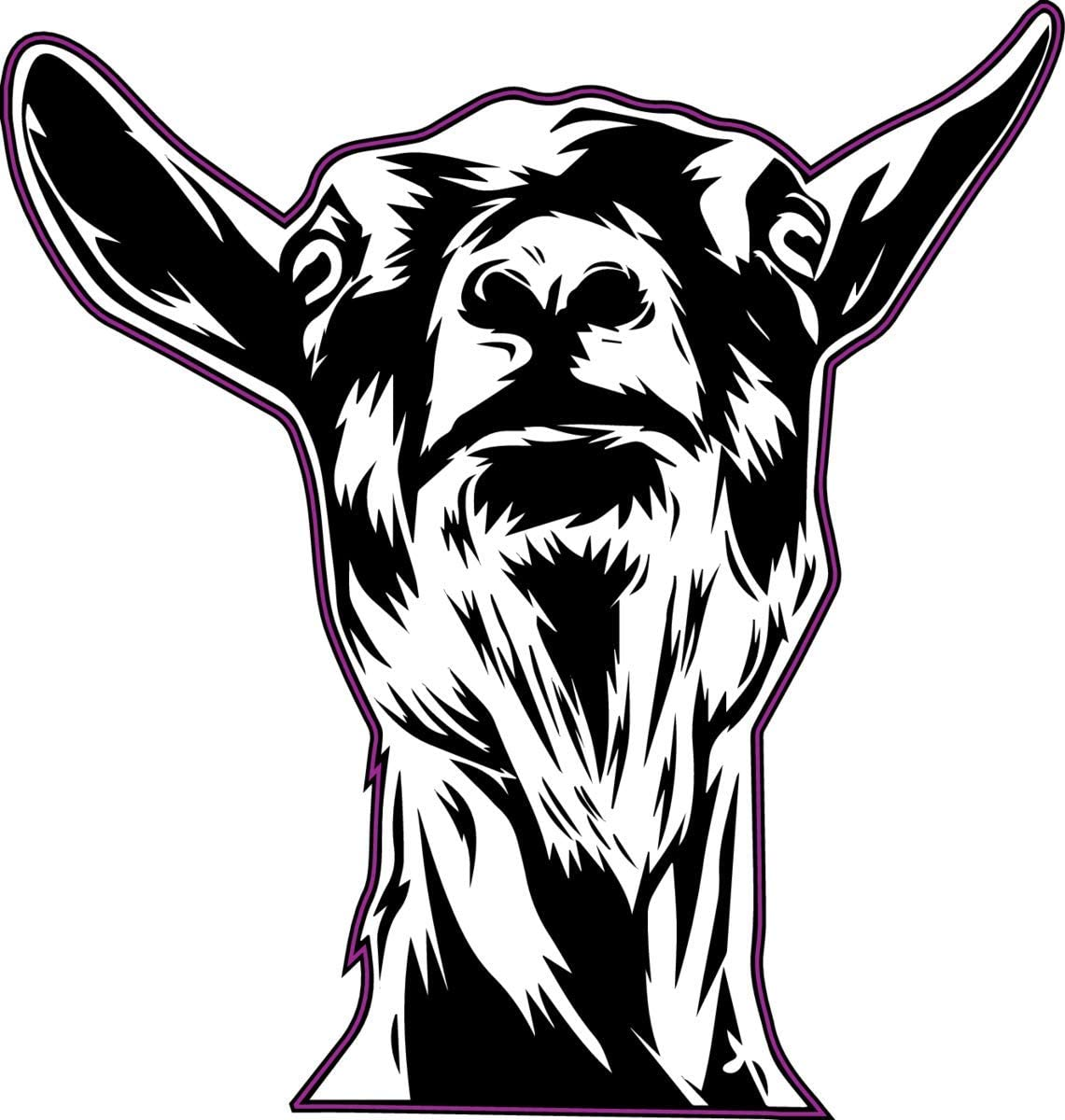 WickedGoodz Funny Goat Decal - Farming Bumper Sticker - Perfect Goat Owner Gift
