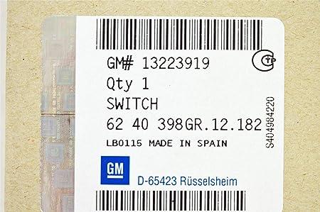 Original Opel Astra H et Zafira B Hayon Interrupteur D/'Ouverture 13223919