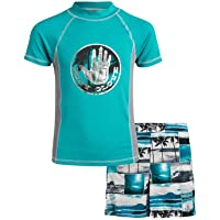 Boys' 2-Piece UPF 50+ Rash Guard and Swimsuit Trunks Set (Little Boys/Big Boys)