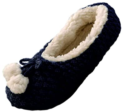 Womens Sherpa Fur Lined Slipper Socks Ladies Warm Winter Indoor Bed Socks Slippers  Mules Ballet Pumps Booties Kids Girls Ladies Size UK 3-8: Amazon.co.uk: ...