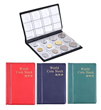 House of Quirk 120 Pockets Coin Holder Collection Coin Storage Small Album Book for Collectors,…
