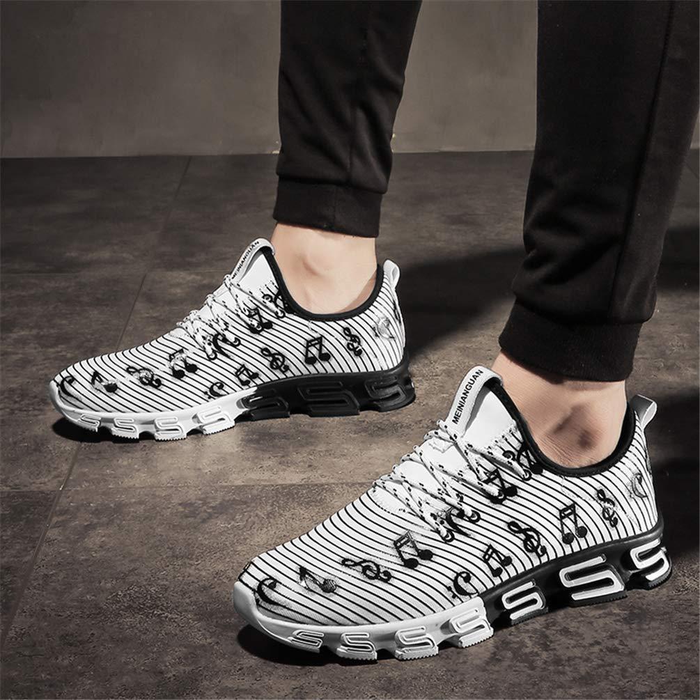 ZHRUI ZHRUI ZHRUI Herren Laufschuhe Outdoor Sport Trainer Fashion Turnschuhe für Männer (Farbe   Weiß, Größe   9.5=44 EU) f60613