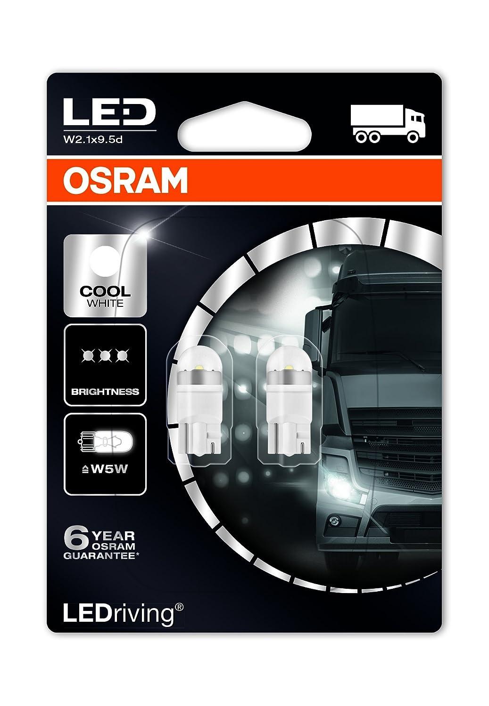 Osram 2824CW-02B LEDriving LED Retrofit W5W per Illuminazione Interna, Cool White 6000K, 24V, Blister Doppio