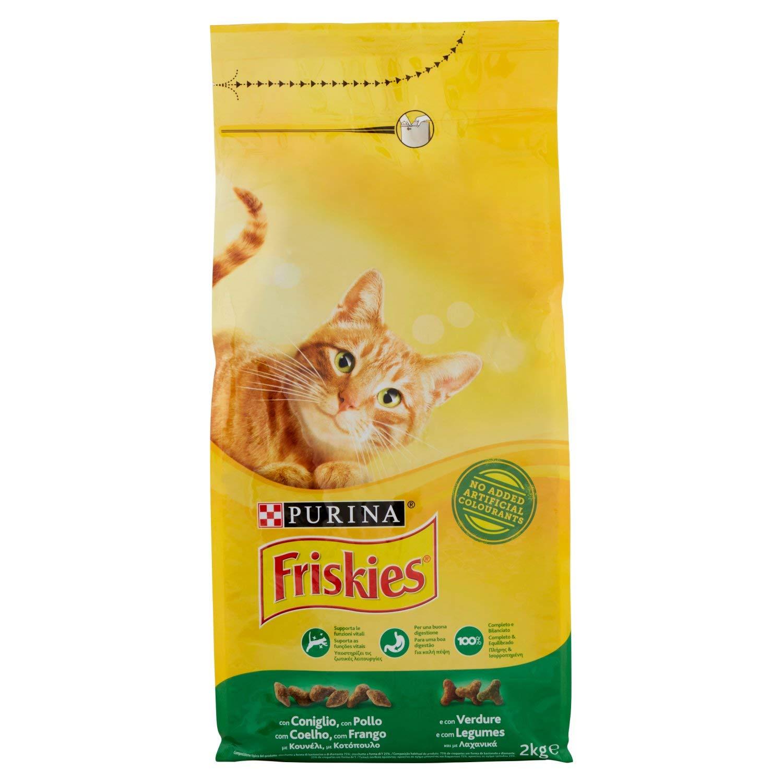 Friskies Adult pienso para el Gato, con Conejo, Pollo y Verduras aggiunte, 2 kg: Amazon.es: Alimentación y bebidas