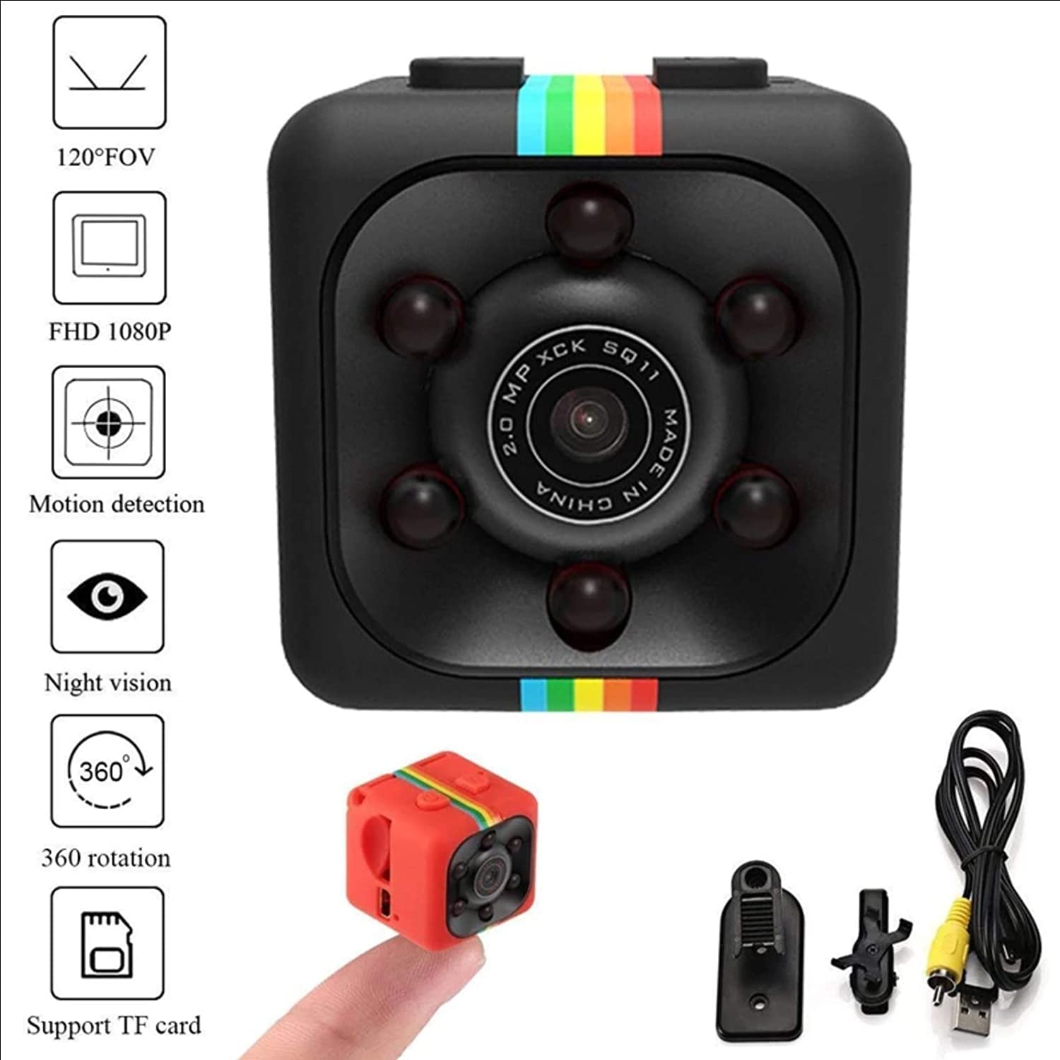 Amazon.com : US Quarter Size Full-HD Mini Camera. Night Vision Makes it Perfect for Drones, Cars, Surveillance and Indoor Security - Vlogging Camera ...