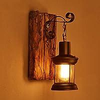 Una buena iluminación American Retro Arte de madera