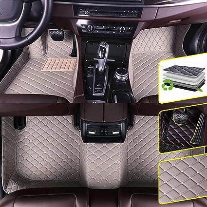 Custom Car Floor Mats for BMW 5 Series E34 E39 1995-2004 Waterproof Non-Slip Leather Carpets Automotive Interior Accessories 1 Set Black