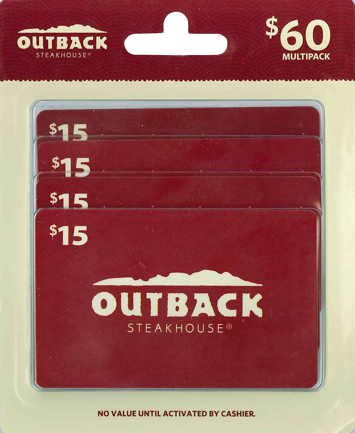 Outback Steakhouse Gift Cards, Multipack of 4 Multipack of 4 - $15