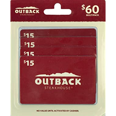 Outback Steakhouse Gift Cards, Multipack of 4