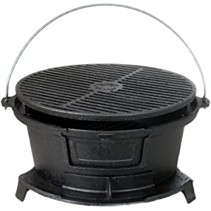 Cajun Classic Round Seasoned Cast Iron Charcoal