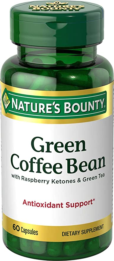 Amazon Com Nature S Bounty Green Coffee Bean With Raspberry Ketones Green Tea Capsules 60 Ea Health Personal Care