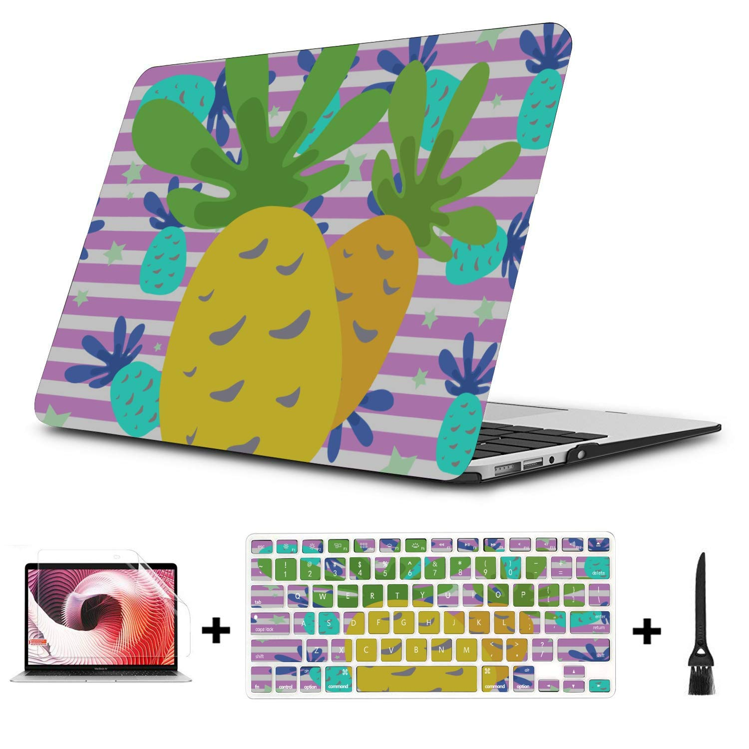 Air Case Summer Fashion Sweet Fruit Pineapple Plastic Hard Shell Compatible Mac Air 11 Pro 13 15 Computer Case Protection for MacBook 2016-2019 Version