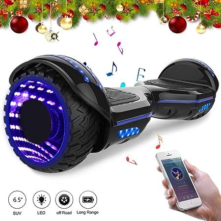 Mega Motion 6.5Pulgadas Monopatín Eléctrico E-Star 2018 Nuevo Scooter eléctrico Self-Balance - con RGB LED en Las Ruedas- Altavoz Bluetooth - 700W ...