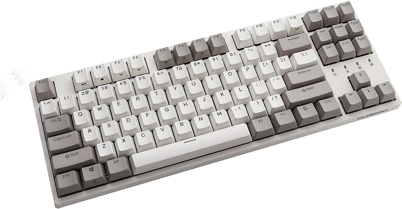 Durgod Taurus K320 TKL Mechanical Gaming Keyboard - 87 Keys - Double Shot PBT - NKRO - USB Type C (Cherry Brown, White)
