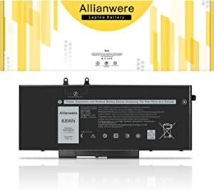 Allianwere 4GVMP Laptop Battery Compatible with Dell Latitude 5400 5500 Dell Precision 3540 3550 Dell Inspiron 2-in-1 Series Ultrabook Notebook 04GVMP 0RF7WM 09JRYT 0X77XY Replacement
