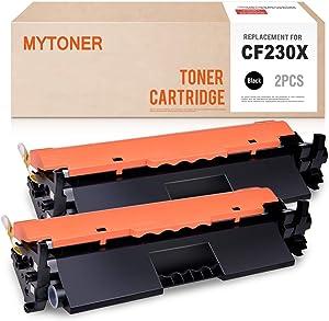 MYTONER (TM) Compatible Toner Cartridge Replacement for HP 30X CF230X MFP M227fdw M203dw 30A CF230A High Yield (Black, 2-Pack)