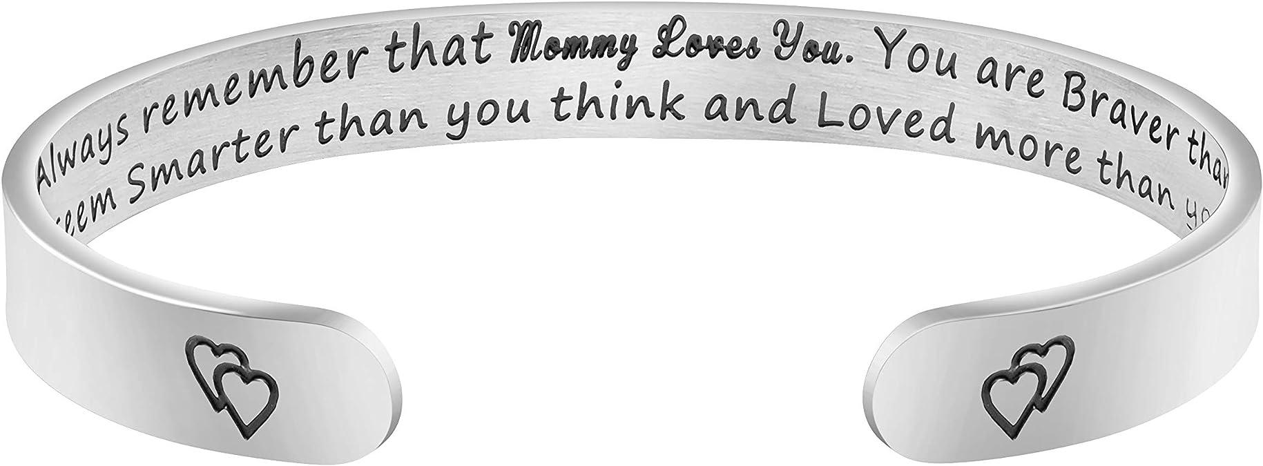 Cuff Bracelet Custom Cuff Silver \u2022 Mom Gift Mother Bracelet \u2022 Grandma Gift Family Name Bracelet \u2022 Handstamped Childrens Name Jewelry \u2022 QQQ