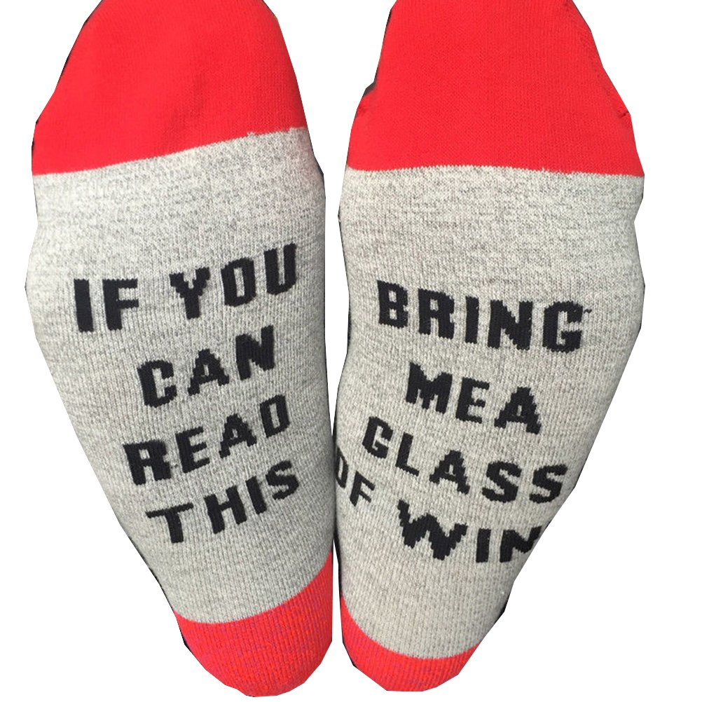 If You Can Read This Bring Me a Cup of Coffee Socks (Black) at Amazon Womens Clothing store: