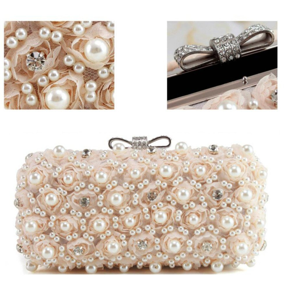 WYGmadlifeqq WYGmadlifeqq WYGmadlifeqq Handgemachte Perlen Diamant Braut Tasche Mode Abendtasche (Farbe   Champagner, größe   OneGröße) B07NN6KH41 Clutches Garantiere Qualität und Quantität cb756c