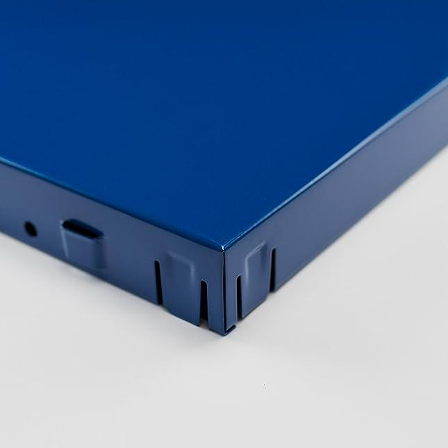 Steckregalsystem metall  Regal Steckregal blau Metall 200x100x50cm Regalsystem ...