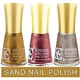 Kremlin Premium Quality Sand Finish Nail Paint Pack of 3 (1-2-3)