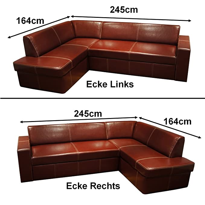 Quattro Meble Piel Set Antalya I rinconera 245 x 164 cm + ...