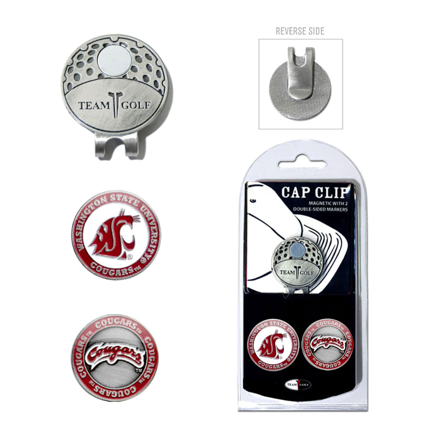 fdd0a6cd165 Amazon.com   Team Golf NCAA Alabama Crimson Tide Golf Cap Clip with 2  Removable Double-Sided Enamel Magnetic Ball Markers