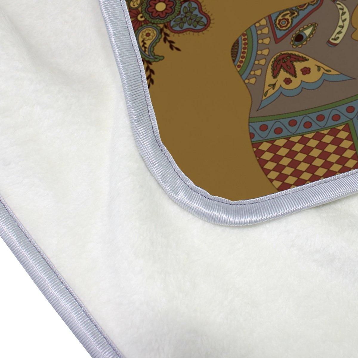 Vantaso Soft Blankets Throw India Mandala Elephants Microfiber Polyester Blankets for Bedroom Sofa Couch Living Room for Kids Children Girls Boys 60 x 90 inch by Vantaso (Image #5)